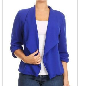 Jackets & Blazers - New Plus size Royal Blue Blazer 1x 2x 3x